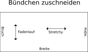 Schnittmuster für das Bündchen der Pumphose