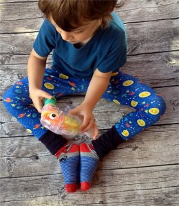 Freebook Leggings Luna - Hamburger Liebe Starlight - K-Nähleon