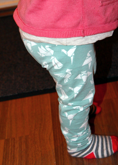 Freebook Leggings Luna - AnnKi - Origami Vögel - K-Nähleon