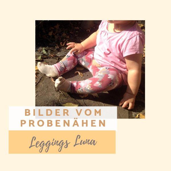Fotos vom Probenähen für das Freebook Leggings Luna