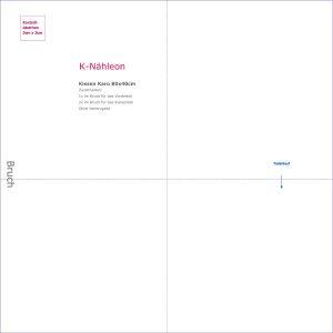 Kostenloses Schnittmuster Kissenhuelle Karo 80x40cm
