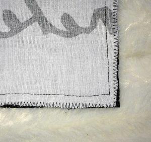 einfaches Kissen 80 x 40cm mit Hotelverschluss - Kanten versäubern