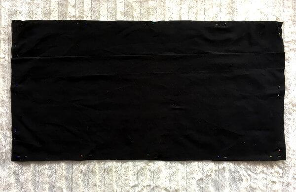 Einfaches Kissen 80 x 40cm mit Hotelverschluss - Rückseite anstecken 2