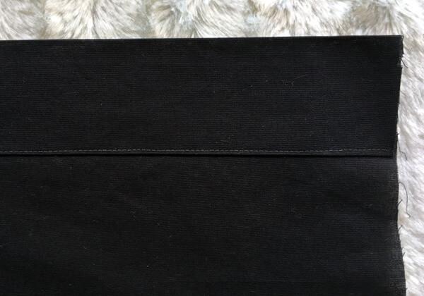 einfaches Kissen 80 x 40cm mit Hotelverschluss - knappkantig abgesteppt
