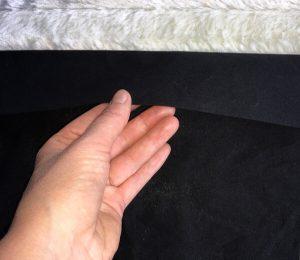 einfaches Kissen 80 x 40cm mit Hotelverschluss - Kanten umbügeln