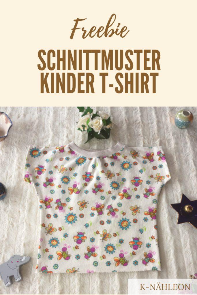 Freebie: Schnittmuster Kinder-T-Shirt mit Fledermausärmeln
