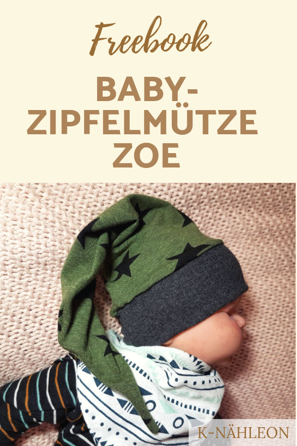 Kostenloses Schnittmuster Baby-Mütze / Zipfelmütze