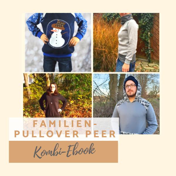 Kombi-Ebook Pullover Peer für die Familie nähen