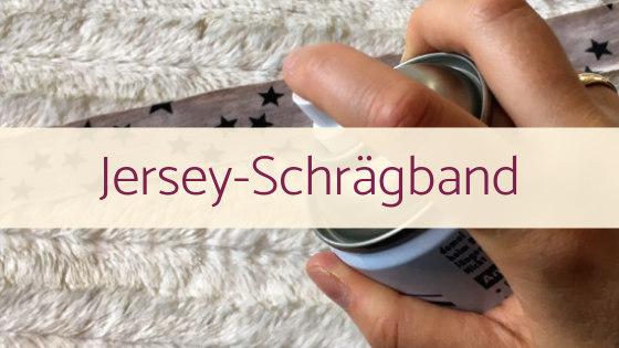Jersey-Schrägband selber machen