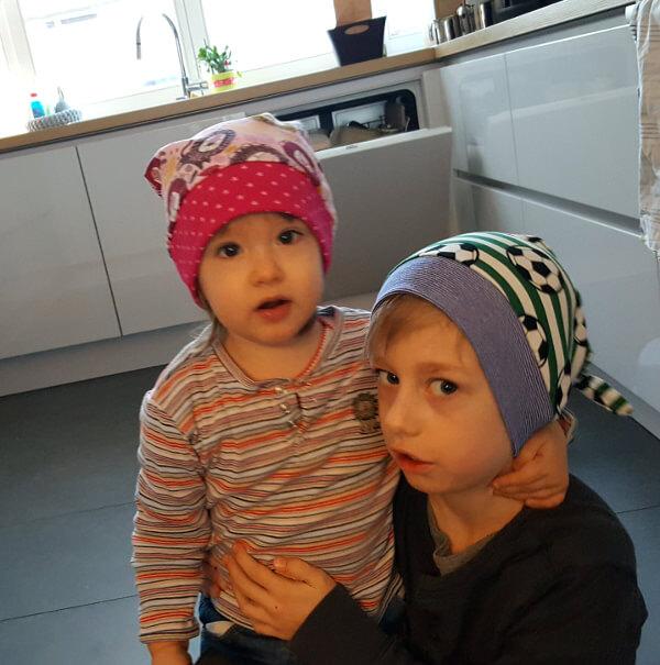 Zipfelmütze für Geschwister-Kinder