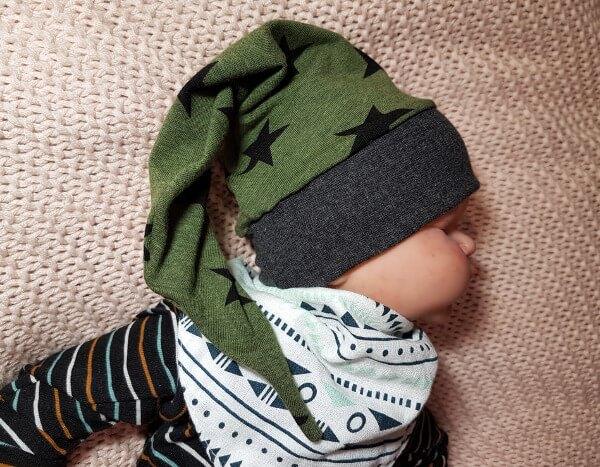 Freebook Zipfelmütze Zoe - Kostenloses Schnittmuster für Babys