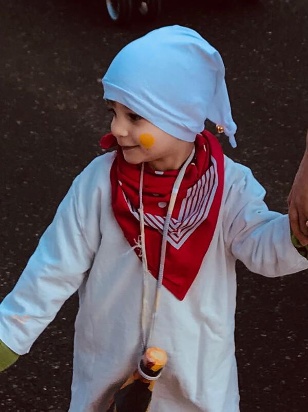 Das Freebok Zipfelmütze Zoe als Hemdglunki-Mütze