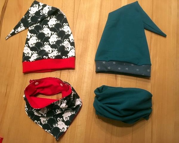 Kombination aus Zipfelmütze Zoe und Loopschal nähen