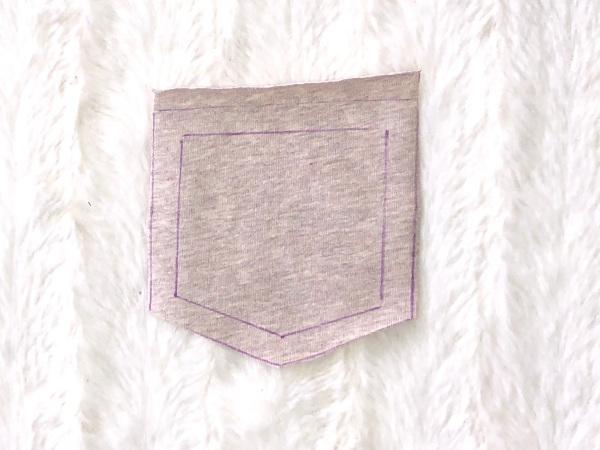 Die ausgeschnittene Tasche für die Leggings Luna