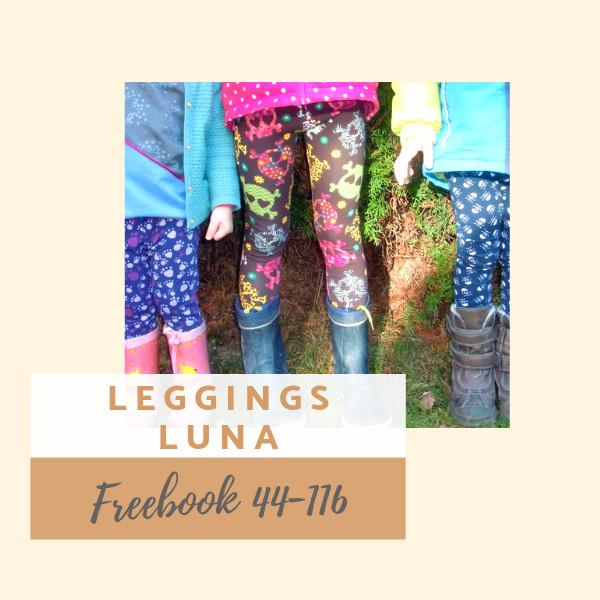 Kostenloses Schnittmuster Leggings Luna für Kinder und Babys