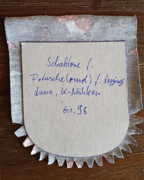 Runde Tasche mit Hilfe einer Schablone bügeln und nähen