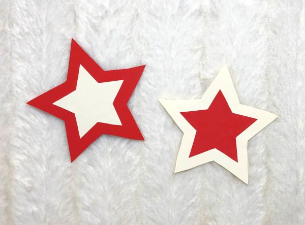 Sterne für Zauberstab kleben