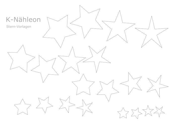 Vorlage Sterne zum Applizieren, Plotten und basteln