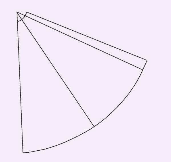 Für den Zauberhut die Spitze der Pappe abschneiden