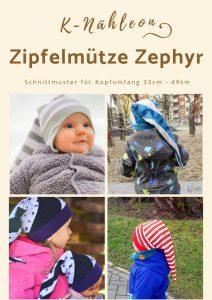 Schnittmuster für Babys und Kinder: Zipfelmütze Zephyr