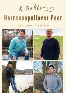 Schnittmuster Hoodie und Pullover Peer für Männer S - XXXL