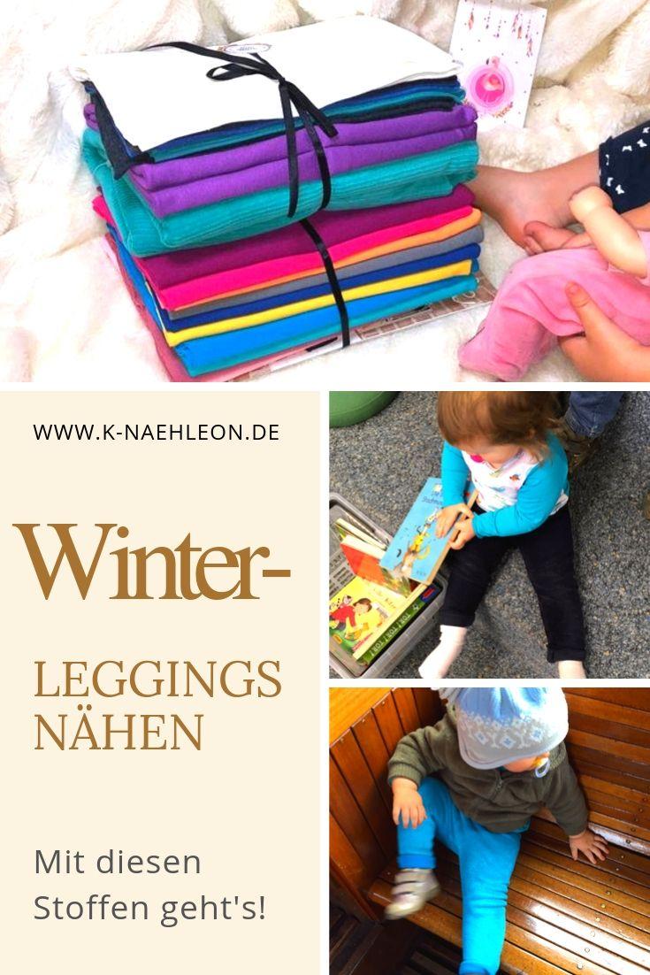 Winter-Leggings nähen - mit diesen Stoffen ist sie schön warm