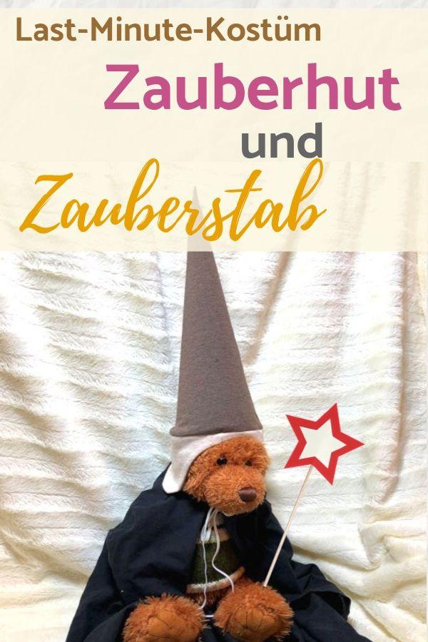 Last-Minute-Kostüm für Kinder: Zauberhut, Umhang und Zauberstab