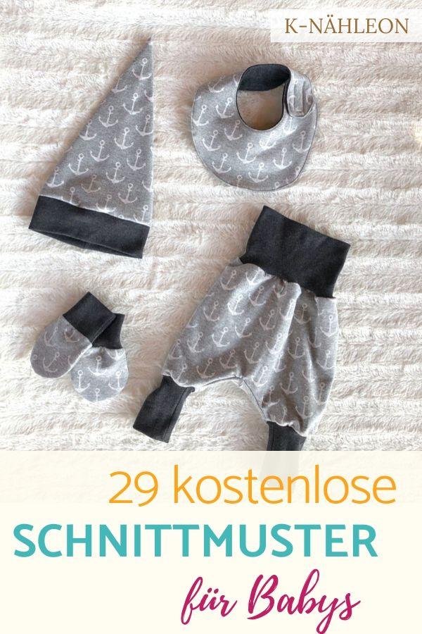 29 kostenlose Schnittmuster für Babys nähen