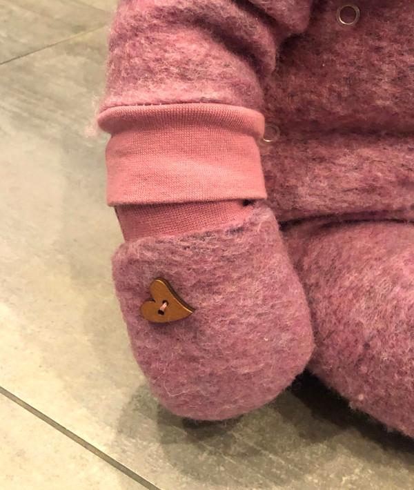 Detailbild: Fäustling für Baby-Mädchen aus Walk genäht