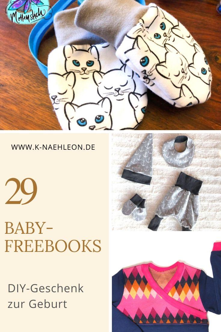 Sammlung von 29 Baby-Freebooks als Geschenk zur Geburt