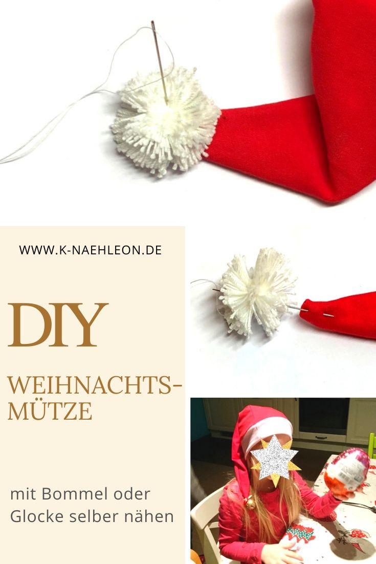 DIY Weihnachstmütze selber nähen