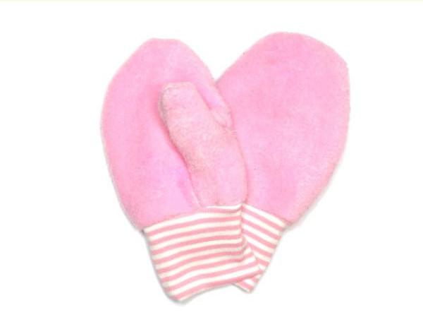 Rosa Kinderhandschuhe aus Fleece