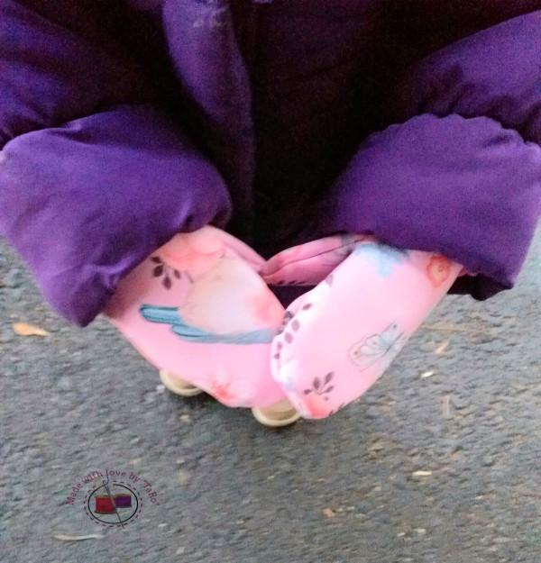 Softshell-Fäustlinge Birdie in rosa
