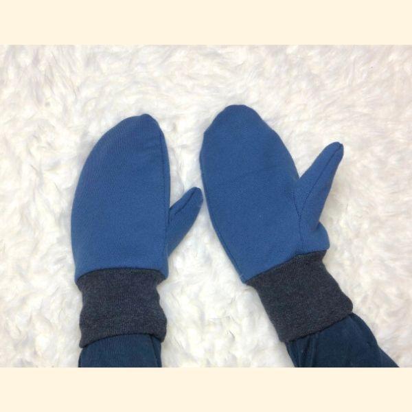 Passform der Handschuh - blauer Sweat
