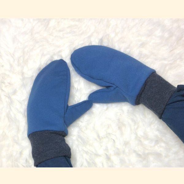 Jungs-Fäustlinge in blau-grau