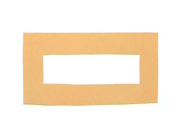 Rechteckige Schablone aus Pappe für Bommel / Pompom