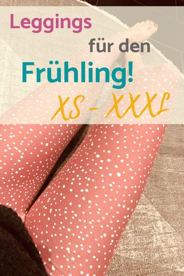 Leggings für den Frühling nähen - Schnittmuster in XS, S, M, L, XL, XXL, XXXL