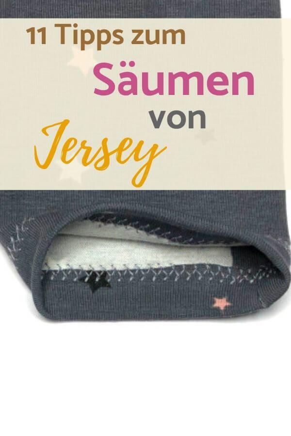 Anleitung und Tipps zum Jersey-Saum