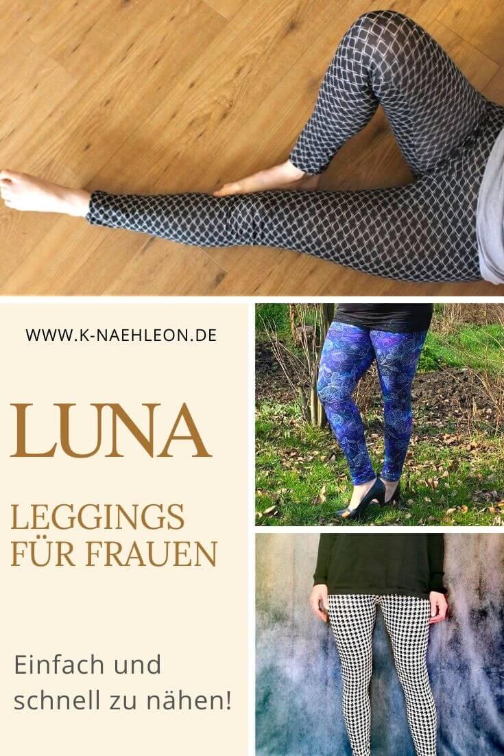 Schnittmuster Leggins Luna für Damen - einfach und schnell zu nähen