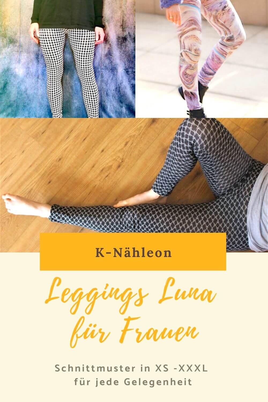 Schnittmuster Leggings für Frauen XS, S, M, L, XL, XXL, XXXL