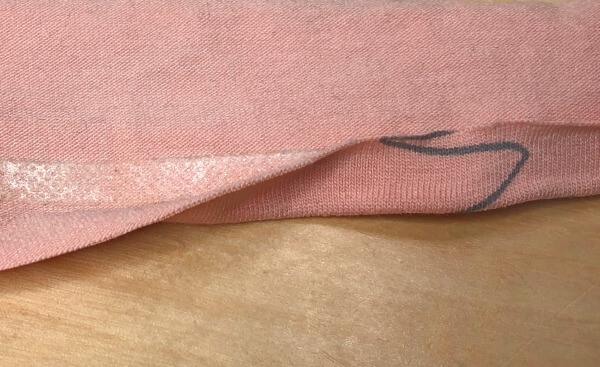 Jersey mit Klebeband stabilisieren