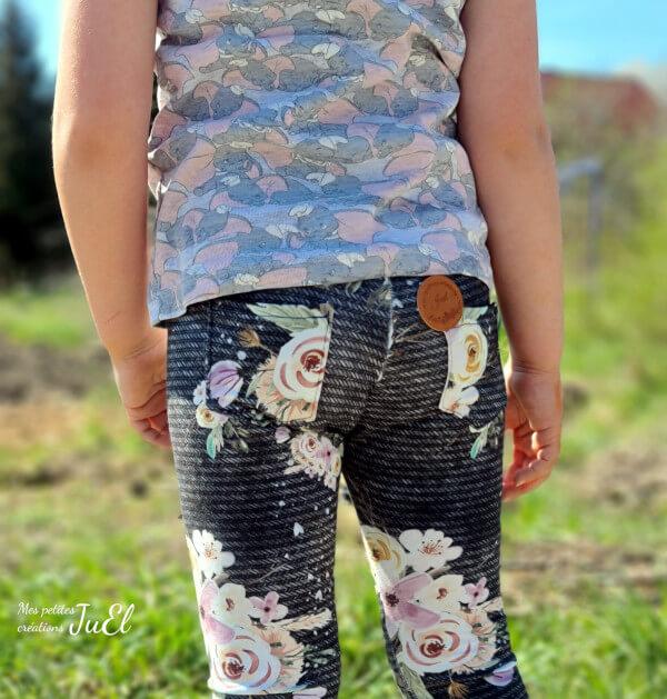 Blumen-Leggins mit Taschen nähen