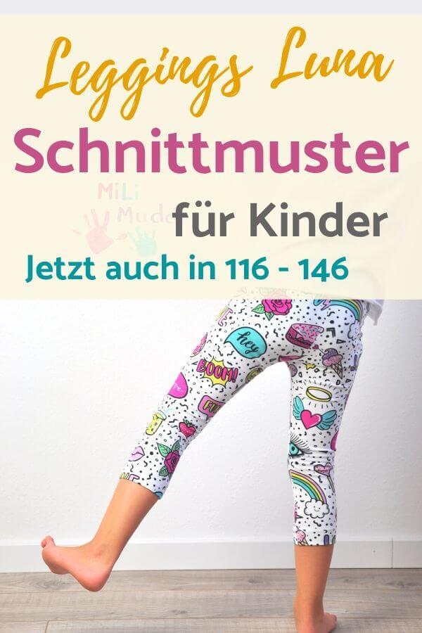 Schnittmuster Leggings für Kinder in 116 - 146