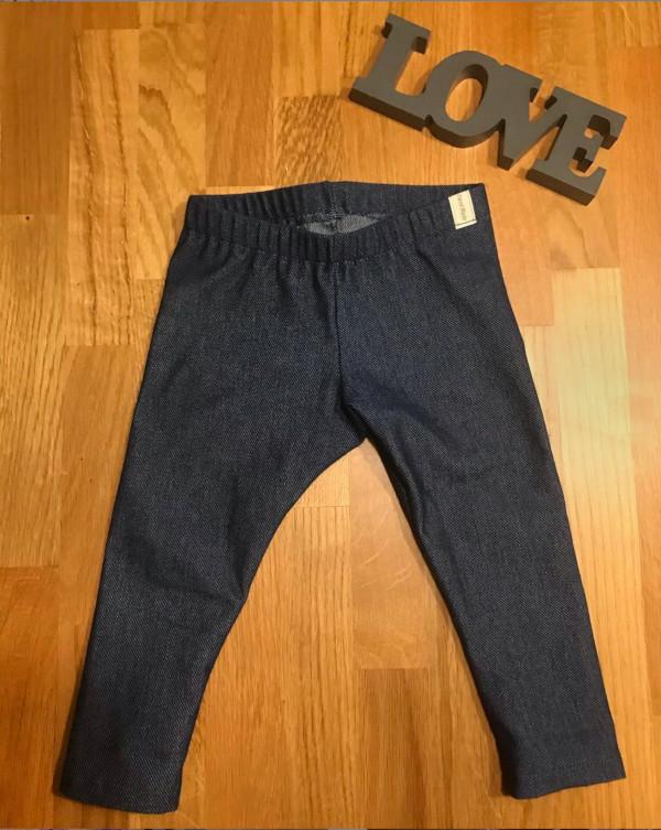 Leggings aus Jeans-Jersey mit Gummi nähen