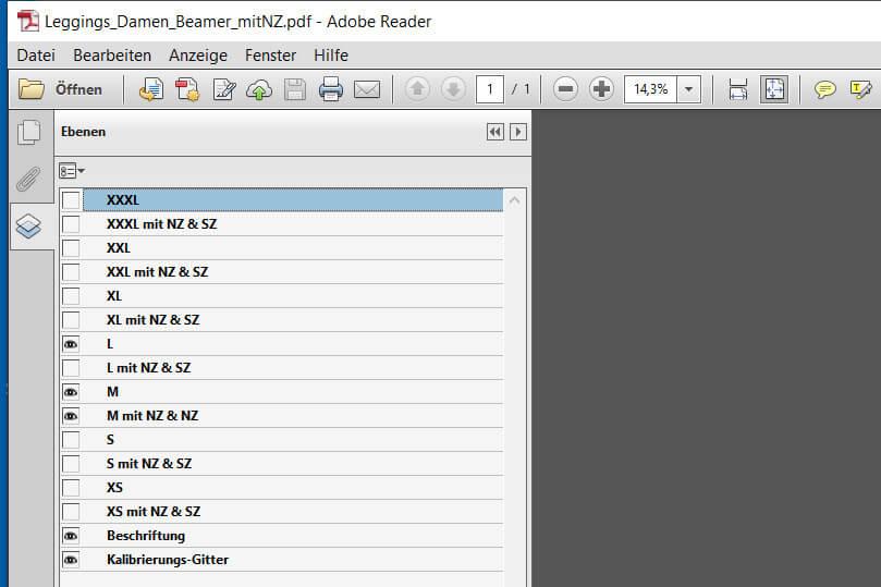 Ebenen in der Beamer-Datei